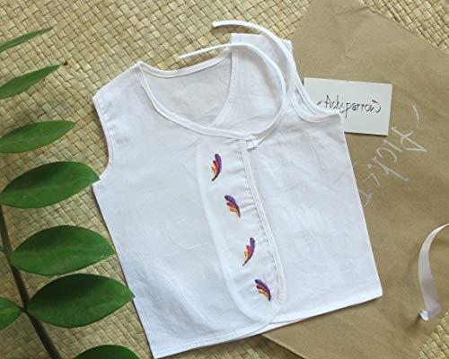 PICKSPARROW 100% Cambric Cotton Embroidered Newborn Baby Clothes/Jhablas/Newborn Essentials (0-1 Month, Pack of 4)