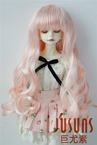 JD148 7-8inch 1/4 MSD Doll wigs 18-20CM Peach pink Long vora Princess BJD hair Resin dolls and porceain doll accessories
