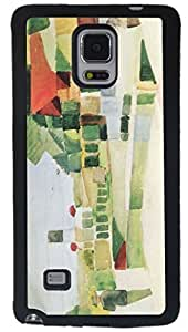 August Macke Art At the Ships Design Samsung? Galaxy Note 4 Case Cover (Black PC with front Bumper Protection) for Samsung Galaxy Note 4