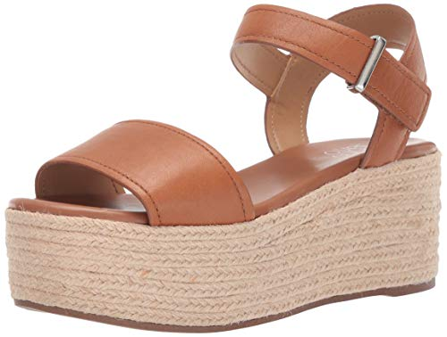 Franco Sarto Women's Ben Espadrille Wedge Sandal, tan, 9.5 M US