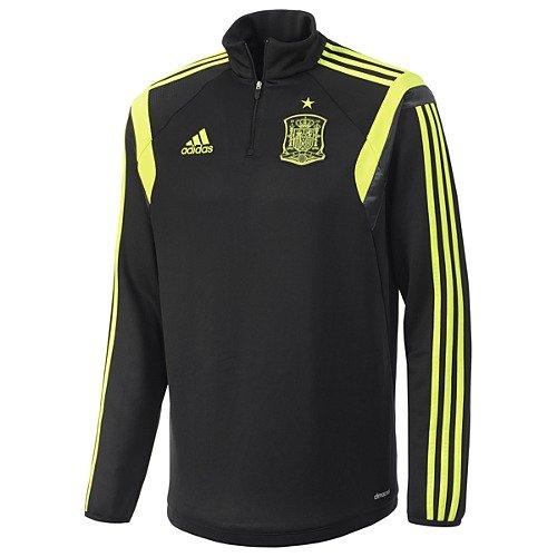 Adidasスペイントレーニングトップワールドカップ2014 B00GXKMHAW Large|ブラック ブラック Large