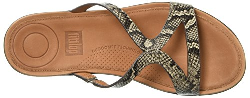 Fitflop Womens Strata Slide Sandal Taupe Snake