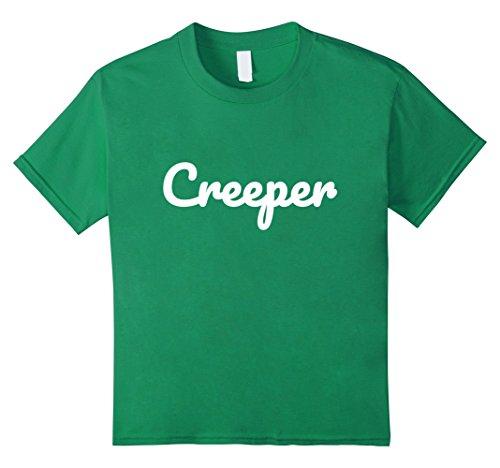 Kids Creeper Shirt - Creepy Funny Halloween Costume Real Meme 10 Kelly Green