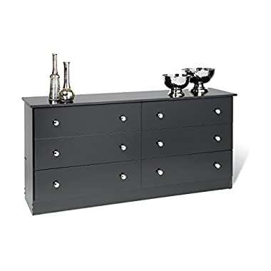 Prepac Black 6-Drawer Dresser