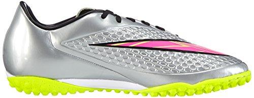 Nike Mens Hypervenom Phelon Premium Tf Gras Voetbalschoenen Chroom, Hyper Roze, Metallic Goud, Zwart