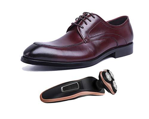 Hombre Con Negocios De Caballero Zapatos Seasons Punta Negro Oficina Winered Adulto Four Inglaterra Borgoña Derby Para wqxq8dC