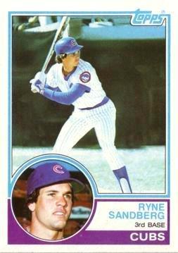 1983 Topps Baseball #83 Ryne Sandberg Rookie (Ryne Sandberg Card)
