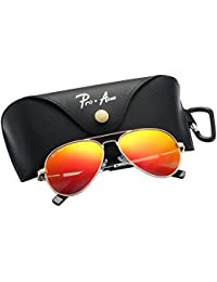 Small Polarized Aviator Sunglasses for Kids and Youth Age...