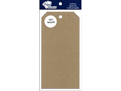 Accent Design Paper Accents 3.125x6.25 BrownBag Craft Tags Brown Bag