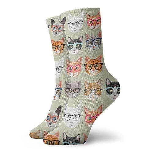 (YIEOFH Spectacular Cats Novelty Boys Girls Fashion Cute Funny Casual Art Crew Socks)