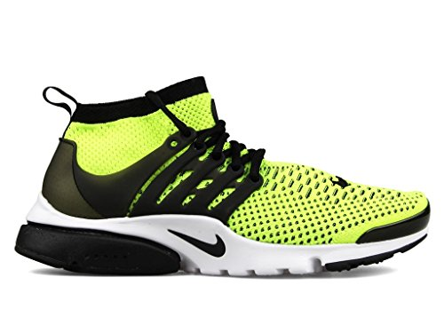 NIKE Air Presto Ultra Flyknit 835570-701 Volt/White/Black Men's Running Shoes (Size 8.5) by NIKE