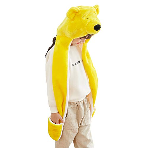 PULAMA Novelty Animal HAT Cosplay Cap - Unisex - Soft Warm Headwraps - Pooh