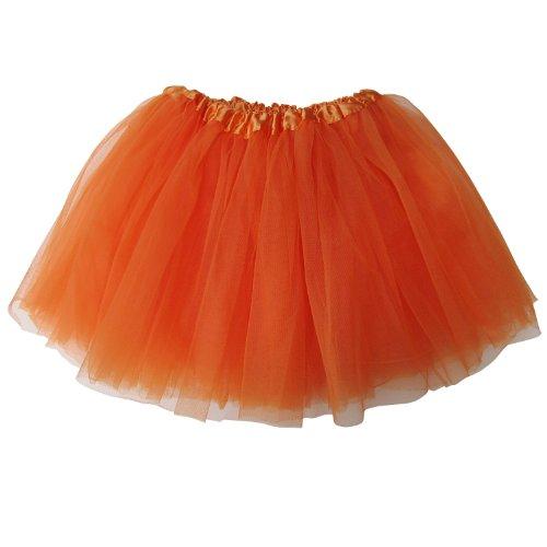 So Sydney Ballerina Basic Girls Dance Dress-Up Princess Fairy Costume Dance Recital Tutu (Orange) -