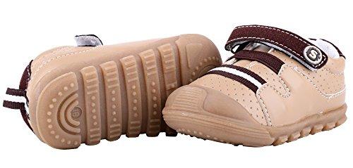 LONSOEN Baby Boys and Girls Anti-Slip Walking Shoes Toddler Athletic Sneaker BAY001 Brown CN19 by LONSOEN (Image #8)