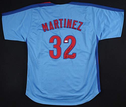 Dennis Martinez Autographed Signed Memorabilia El Presidente Jersey Inscribed Pg. 7/28/91 - JSA Authentic
