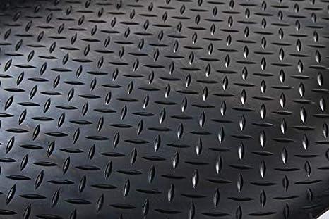 100 x 150cm, Flachnoppen Gummimatte Gummil/äufer Schutzmatte Anti Rutsch Bodenbelag 100cm Breite 3mm Gummiboden