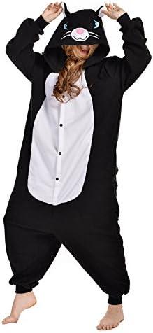 Amazon.com: Newcosplay Unisex de Adultos gato negro Onesie ...