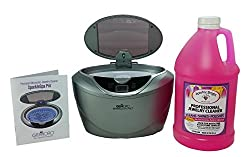 Gemoro 1791 Sparkle Spa Pro Slate Gray Ultrasonic Cleaning Kit Includes Sparkle Bright All-natural Jewelry Cleaner, Half Gallon Liquid