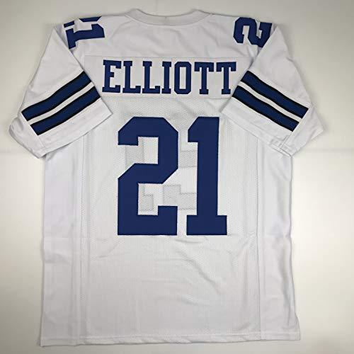 Unsigned Ezekiel Elliott Dallas White Custom Stitched Football Jersey Size XL New No ()