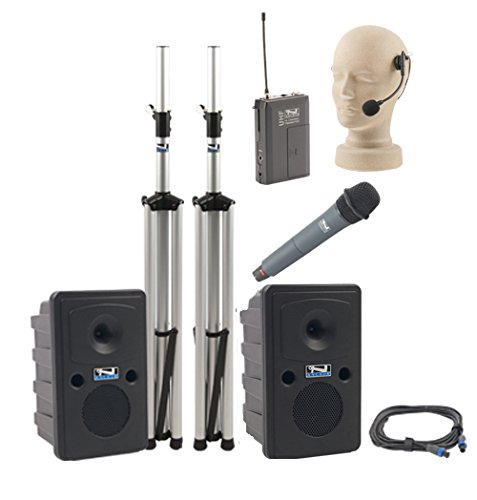 Anchor Audio Go Getter Dual Deluxe Package With 1 Handheld Microphone And 1 Headset Microphone