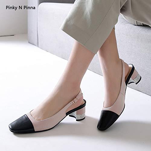 Nuziale Sparkly Décolleté Cinturino Posteriore E festa Strass Sexy sandali Donna Prom Pink Con Plnxdm Tacco Sposa Da Basso Corte Scarpe Party BPqzdWBZ8w