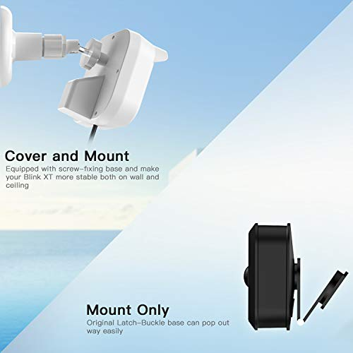 MASCARRY Blink XT Home Security Camera Wall Mount Bracket , Weather Proof  360 Degree Protective Adjustable Indoor Outdoor Mount Cover Case Blink XT