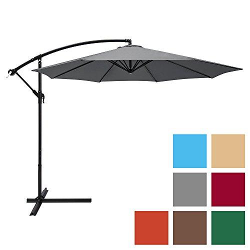 (Best Choice Products 10ft Offset Hanging Outdoor Market Patio Umbrella w/Easy Tilt Adjustment -)