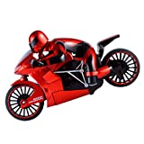 Fityle 1:16 RC Motorbike Speed Drift Car Toy Motorcycle with Transmitter Boys Xmas Gift Red