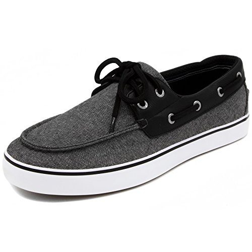 Nautica Men's Galley Lace-Up Boat Shoe,Two-Eyelet Casual Loafer, Fashion Sneaker-Black Chambray-12 by Nautica (Image #3)