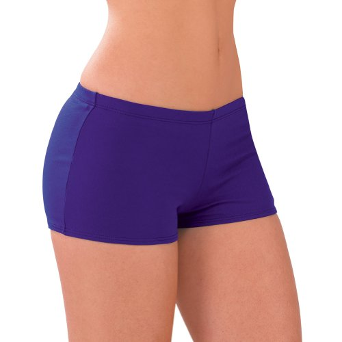 Poly Blend Boy-cut Briefs (AXS, Purple) (Briefs Boy Cut Cheerleading)
