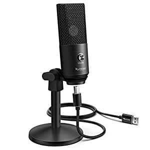 USB Microphone,Fifine PC Microphone for Mac and Windows Computers,Optimized for Recording,Streaming Twitch,Voice Overs,Podcasting for YouTube,Skype Chats-K670 black