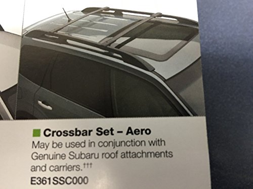 Roof Subaru Forester - 2009-2013 Subaru Forester OEM Aero Cross Bars Roof Rack E361SSC300 Genuine New