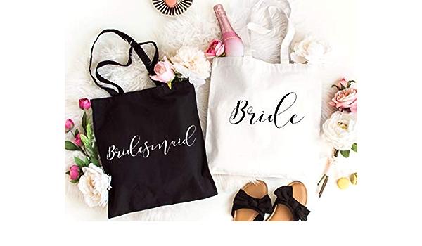 Wedding Tote Bag Junior Bridesmaid Tote Purple Flowers Flower Girl Tote Bag Wedding Welcome Bag