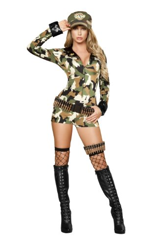 Roma Costume 3 Piece Sexy Soldier Costume, Camouflage, Medium/Large (Sexy Soldier Costumes)