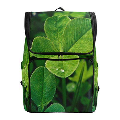 Laptop Backpack Lucky Four Leaf Clover Duffle Backpack for Men Big Casual Fashion Back Pack ()