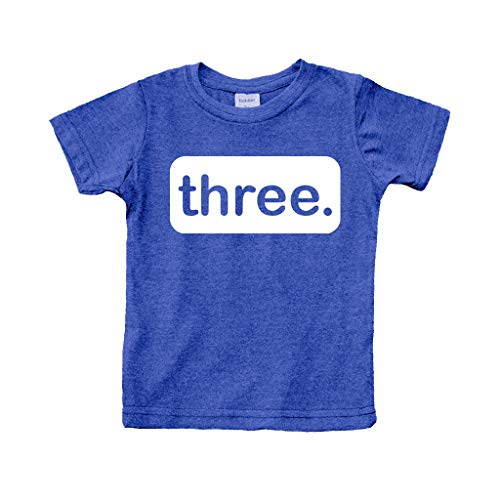3rd Birthday Shirt boy Third Outfit 3 Year Old Toddler Gift Baby Tshirt Party Shirts (Charcoal Blue, 3y)