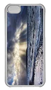 Customized iphone 5C PC Transparent Case - Crepuscular Rays Over Sea Personalized Cover by mcsharks