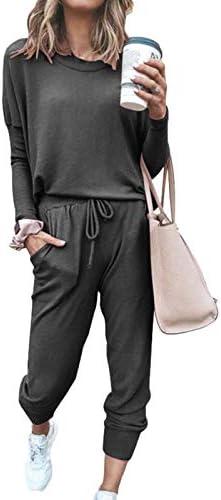 Dames Sportpak Dames Jogger Outfit Homewear Bijpassende Zweetpakken Lange Mouw Capuchon Trainingsbroek 2delige Sportsets Trainingspak Casual Sportkleding
