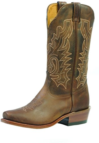 Bottes américaines - bottes western BO-2155-91-EEE (pied fort) - Homme - Marron