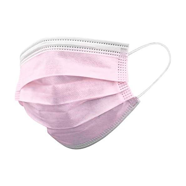 Gima-Gisafe-Filtrierende-Chirurgische-Maske-BFE-98-zum-Einmalgebrauch-3-Lagen-Typ-II-Formbarer-Nasenbgel-fr-Erwachsene-Rosa-MP-der-Klasse-I-CE-Kennzeichnung-50-Stcken