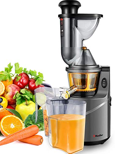 Best Buy! Mueller Austria Ultra Juicer Machine Extractor with Slow Cold Press Masticating Squeezer Mechanism Technology, 3 inch Chute accepts Whole Fruits and Vegetables, Easy Clean Large Nickel