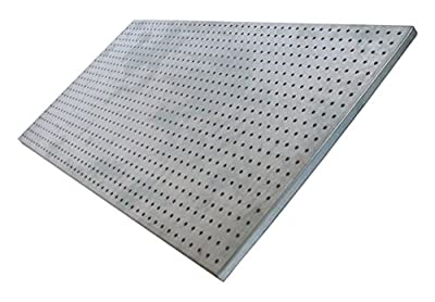 "diamondLife HPB2448.G PegBoard X2, 24"" x 48"", Galvanized Steel"