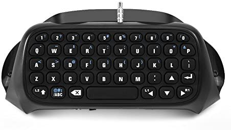 Zerone Mini Teclado Bluetooth Chatpad para Playstation 4, PS4 Pro, PS4 Controlador Delgado Teclado PS4 Chatboost Chatpad con Cable de alimentación USB, Negro: Amazon.es: Electrónica