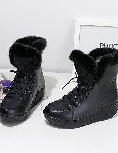 5 Zapatos Black Punta Cn39 Redonda us8 Negro Uk6 Nieve 5 Plataforma De Cn40 Xzz Blanco Mujer Botas Vestido Casual Uk6 Semicuero White us8 Comfort Eu39 FCqgqwx