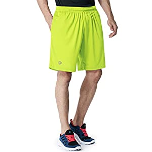 Tesla TM-CMBS01-LME_X-Small Men's Active Shorts Sports Performance HyperDri II With Pockets CMBS01