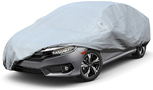 Leader Accessories Premium Car Cover 100% Waterproof Fit Car's Length Up To 200'' Breathable Outdoor Indoor Sedan ()