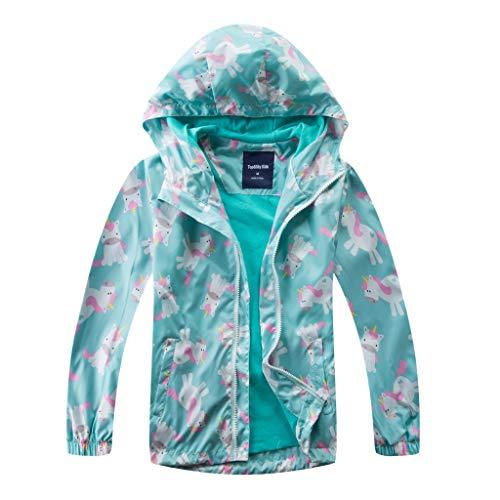 Kinderjas voor meisjes, gevoerde regenjas, overgangsjas met capuchon, fleecevoering, softshelljas, waterdicht, winddicht…