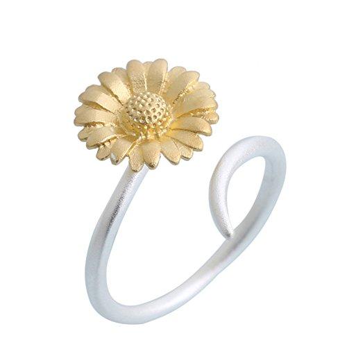 Helen de Lete Sunflower Vine Sterling Silver Open Ring