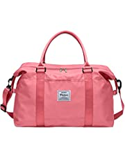 Womens Travel Bags, Weekender Carry on for Women, Sports Gym Bag, Workout Duffel Bag, Overnight Shoulder Bag fit 15.6 inch Laptop…