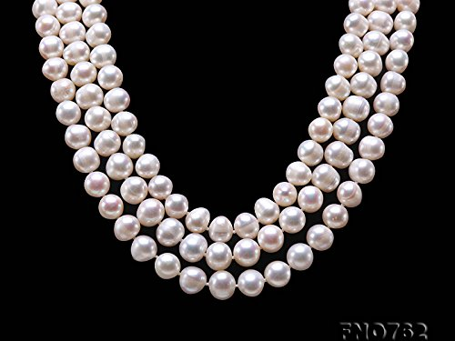 JYX Round Natural White 8-9mm Freshwater Pearl Necklace Endless Long Sweater Necklace 64'' by JYX Pearl (Image #4)